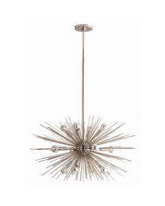 Arteriors Zanadoo Small Polished Nickel Sputnik Sunburst  Chandelier Available in Two Sizes
