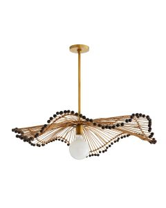 Arteriors Waverly Parasol Rattan Wavy Pendant - BACKORDERED UNTIL MARCH 2020