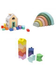Toddler Sorting Blocks Bundle Gift Set
