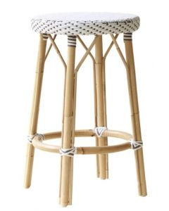 Backless Bistro Style Woven Counter Stool - Available in Many Colors