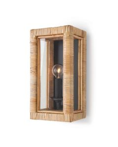 Bamboo Frame Coastal Wall Sconce in Natural - ON BACKORDER