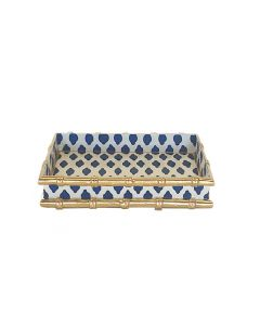 Bamboo in Navy Parsi Letter Tray - ON BACKORDER UNTIL OCTOBER 2020