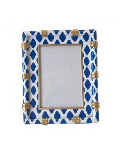 Parsi Blue Bamboo Picture Frame - ON BACKORDER UNTIL LATE APRIL 2021