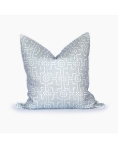 Bamboo Trellis Square Pillow in Smoke