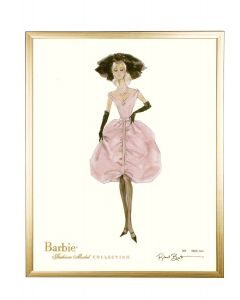 Barbie Limited Blush Wall Art With Optional Frame