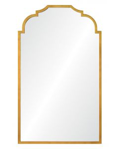 Barclay Butera Long Rectangular Wall Mirror in Gold Leaf