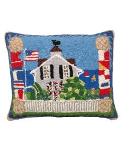 Beach House Hooked Pillow