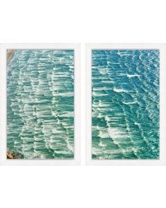 Beach Scene II Diptych Framed Wall Art