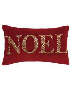 Beaded Noel Holiday Pillow