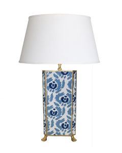 Beaufont in Blue Table Lamp with Gold Trim