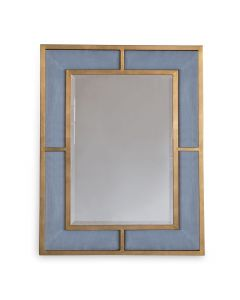 Bedford Gold Marine Blue Mirror