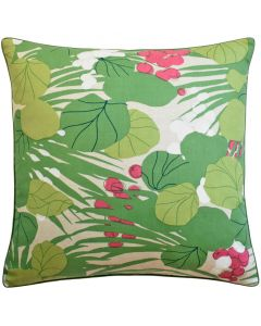 Berries and Leaves Tropical Decorative Throw Pillow