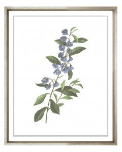 Bessa Blue Flower Framed Wall Art IV