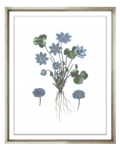 Bessa Blue Framed Wall Art VI
