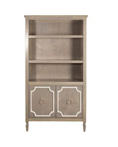 Hollywood Regency 2 Door 2 Tone Custom Handmade Bookcase - Available in a Variety of Finishes