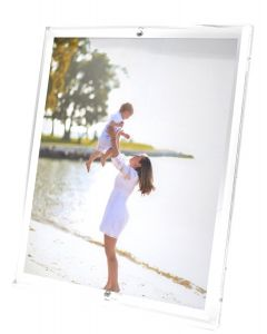 Beveled Clear Acrylic Floater Picture Frame for 8x10 Photo