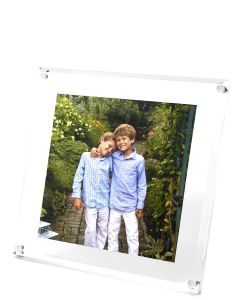 Beveled Clear Acrylic Floater Picture Frame for Square Photo - OUT OF STOCK