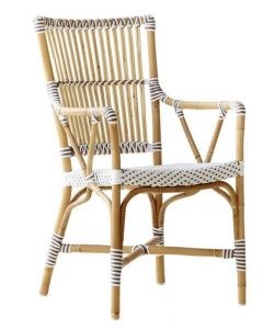 Bistro Style Rattan Arm Chair