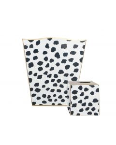 Black Speckle Wastebasket With Optional Tissue Box