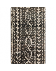 Black and Tan Jute Area Rug - Available in a Variety of Sizes