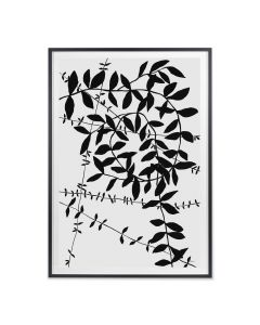 Black and Grey Botanical Vine 3 Wall Art - Available in 2 Sizes