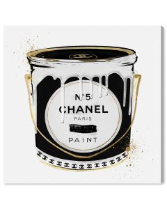 Coco Noir Chanel Paint Can Wall Art - Variety of Sizes Available