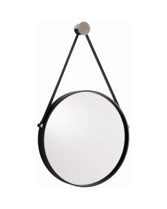 Arteriors Expedition Black Round Iron Hanging Mirror