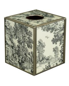 Black Toile Tissue Box
