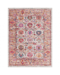 Blaire Pink Floral Design Area Rug - Available in a Variety of Sizes