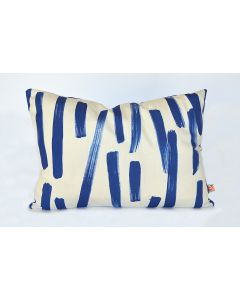 Blue Abstract Brushstroke Lumbar Pillow
