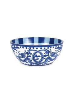 Blue & White Hand Painted Dragon Design Bowl in Two different Sizes