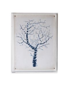 Blue Coral II Giclee Print in Lucite Shadow Box