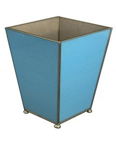 Blue Lizard Skin Wastebasket and Optional Tissue Box