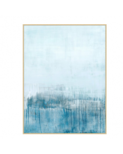 Blue Steam Framed Wall Art
