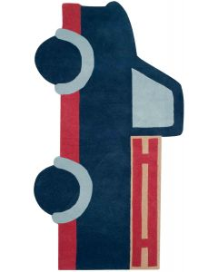 Blue and Red Kids Truck Rug - CALL TO CONFIRM AVAILABILITY