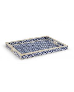 Blue and White Bone Inlay Tray