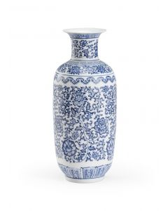 Blue and White Floral Ceramic Vase - ON BACKORDER UNTIL MAY 2021