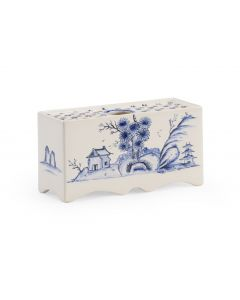 Blue and White Hand Painted Antique Reproduction Delft Flower Brick