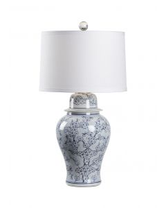 Blue and White Hand Painted Cherry Blossom Porcelain Table Lamp