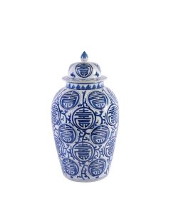 Blue and White Porcelain Longevity Heaven Jar
