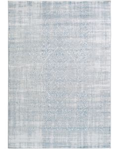 Blue and White Medallion Abstract Area Rug - Available in a Variety of Sizes