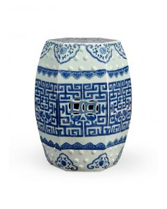 Blue and White Porcelain Qing Garden Seat