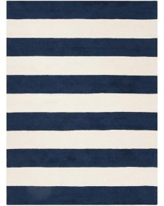 Blue and White Striped Area Rug - Variety of Sizes Available