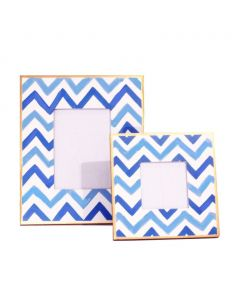 Blue Bargello Picture Frame - Available in 2 Sizes