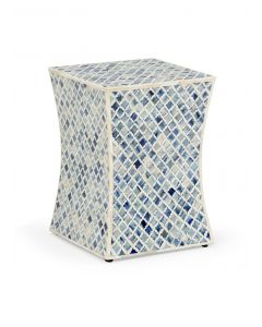 Blue Bone Side Table
