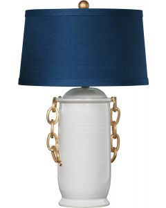 Bradburn Home Blue Chanel Table Lamp with Shade
