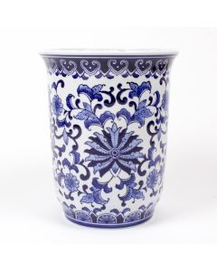 Blue Chinoiserie Porcelain Planter - ON BACKORDER UNTIL NOVEMBER 2020
