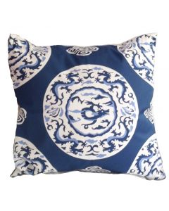 Blue Dragon Square Pillow