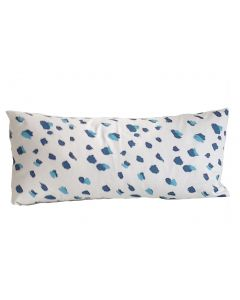 Blue Fleck Lumbar Pillow