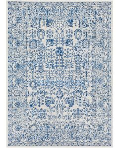 Blue Floral Area Rug - Available in a Variety of Sizes